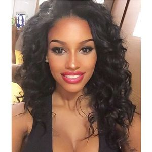 18 Inch Wavy Long Wigs For African American Women The Same As The Hairstyle In The Picture