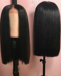 14 Inch Straight Bob Wigs For African American Women The Same As The Hairstyle In The Picture dm