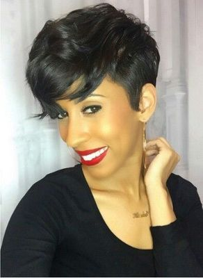 6 Inch Short Wigs For African American Women The Same As The Hairstyle In The Picture mw