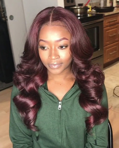 24 Inch Wavy Long Wigs For African American Women The Same As The Hairstyle In Picture bg