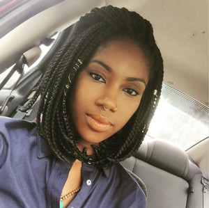 12 Inch Braided Wigs Lace Front Wigs For Women The Same As The Hairstyle In The Picture kl