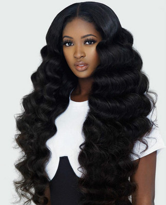 24 Inch Wavy Long Wigs For African American Women The Same As The Hairstyle In The Picture ha