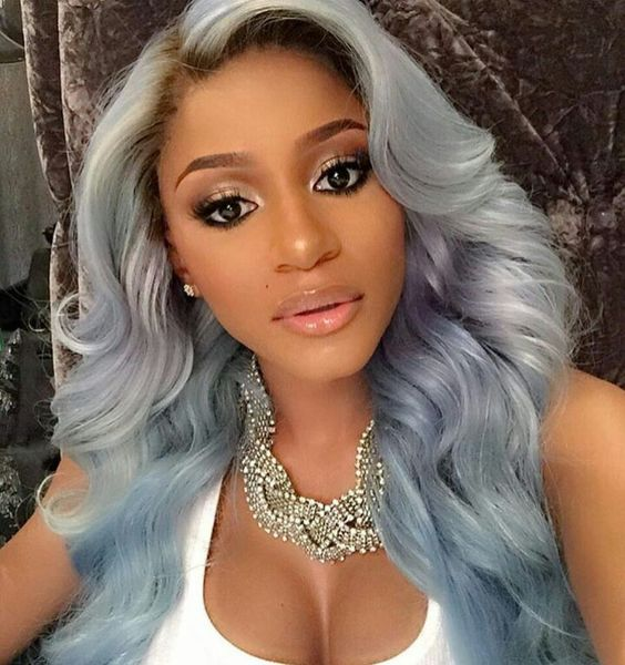24 Inch Wavy Grey Wigs For African American Women The Same