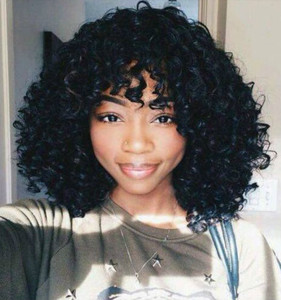 14 Inch Curly Wigs For African American Women The Same As The Hairstyle In The Picture ce